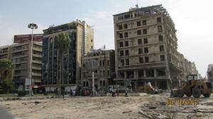 La ciudad siria de Aleppo, bombardeada por el ejército de Siria. Foto: Wikipedia.