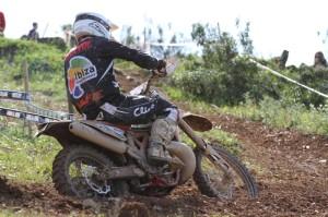 El piloto del Motoclub Formentera i Eivissa, en un tramo del circuito