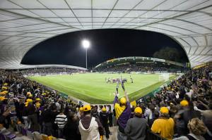 Imagen del estadio del Maribor. Eslovenia, una de las paradas obligatorias del planeta Àxel. Foto: Skycraper City.