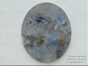 En la imagen, una de las obras de Marilú Cattaneo.