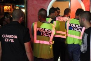 Imagen de una operación policial en Sant Antoni
