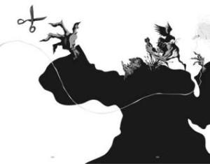 Sinsonte se rebela a su destino atacando a la Moira Átropo.