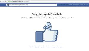 Durante toda la mañana, Facebook devolvía a todo aquel que buscaba la página de Bomba Ibiza un mensaje que indicaba que había sido retirada.