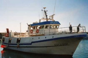 En la imagen, el pesquero siniestrado. Foto: peixdesantapola.com