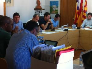 En la imagen, un momento del pleno del Consell de Formentera.