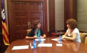 La consellera de Cultura del Consell Insular, Pepita Costa, s'ha reunit amb la Secretària d'Estat de Turisme, Isabel Borrego.