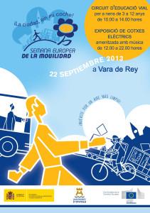 En la imagen, el cartel de los actos del la Semana Europea de la Movilidad.