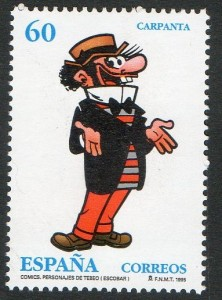 Sello de Correos emitido en 1995 con la imagen más característica de la creación de Escobar.