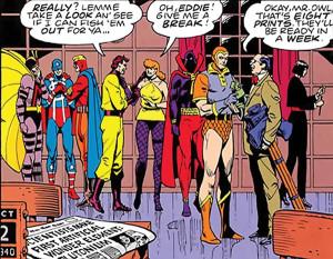 Formación original de los Minutemen, predecesores de los vigilantes modernos.