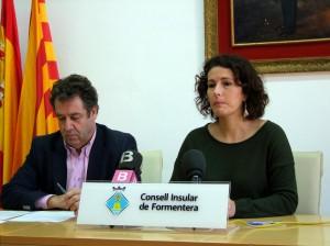 La consellera Sílvia Tur en la presentació d'aquestes obres de millora de la xarxa de pluvials.