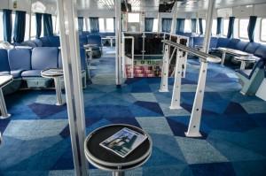 Imatge de l'interior del Formentera Direct. Foto: Baleària.