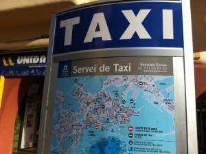 Parada de taxis a Vila. Foto: D.V.