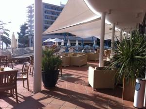 Terraza del hotel Osiris. Foto: D.V.