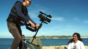 Un momento de la grabación del documental La Revolución Turística.