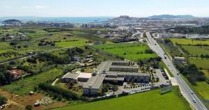 Una vista aérea de Sa Residencia Casa para mayores, situada en Jesús.