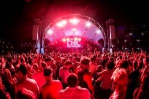 Imagen del escenario principal del Hard Rock Hotel Ibiza.