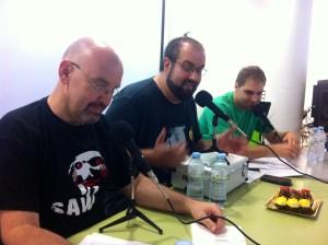 Lluís Ferrer, Álex Berlanga e Ismael del Valle, los responsables de Supercultura Freak Chow. Foto: D.V.