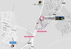 Plano del nuevo acceso de entrada y salida a Sa Residència-Casa para mayores.