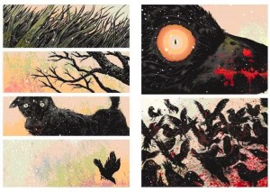 El rojo sangre, subliminal o explícito, siempre presente en el trabajo de David Rubín.
