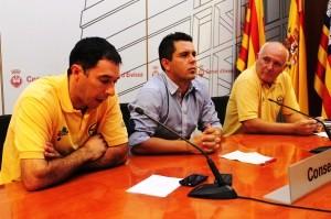 José Antonio Vázquez, Rafa Triguero y Manuel Adana, durante la presentación de la pasada Pujada.