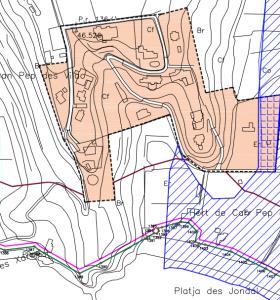 L'urbanització situada davant de Cala Jondal també es contempla com AMR.