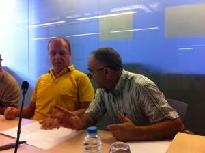 Els regidors del PI, Juanjo Ferrer i Joan Torres. Foto: D.V.