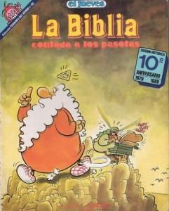 Edición histórica de la colección Pendones del Humor celebrando el 10º aniversario de La Biblia contada a los pasotas.