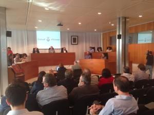 Una imatge del ple del Consell d'Eivissa. Foto: PSOE-Pacte.
