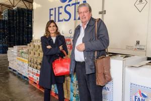 En la imagen, Carmen Matutes, Directora General Adjunta del grupo hotelero y Directora Ejecutiva de la Fundación y el director de la organización humanitaria de la Iglesia Católica en Ibiza, Joan Marí.