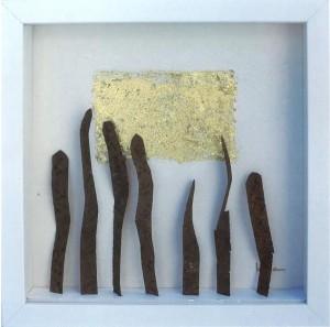 En la imagen, el premio que recogerán los galardonados, obra de la artista ibicenca Júlia Ribas.