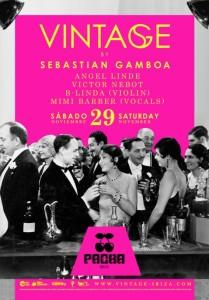 El vistoso cartel de la fiesta Vintage, que se celebrará en Pacha el 29 de noviembre.