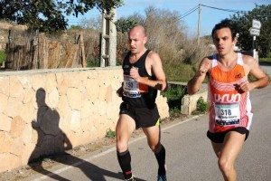 Urbano y Añibarro fueron juntos hasta los últimos kilómetros de la carrera.