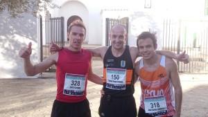 Jordi Cardona, Samuel Urbano y José Carlos Añibarro, el podio absoluto masculino.