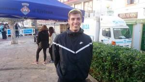 Alberto Parrilla se mostró muy satisfecho tras ganar su primera carrera popular de atletismo.