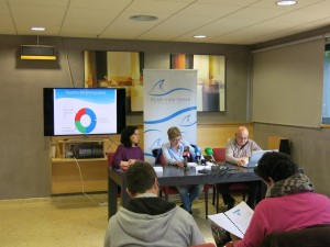 Un momento de la presentación de las actividades que ha tenido lugar en Sa Residència