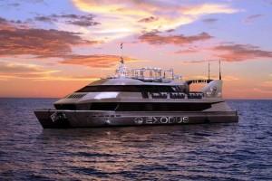 El Exodus Super Yatch tiene capacidad para 400 pasajeros y un gran nmúmero de tripulantes. Fotos; Facebook