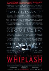El cartel de 'Whiplash', una de las cintas que se proyectará en este ciclo de cine.