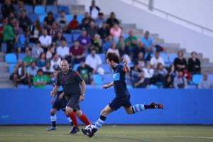 Víctor Galera fue expulsado en el minuto 75.