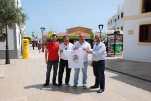 Els responsables de l'organització de la mitja marató de Formentera.