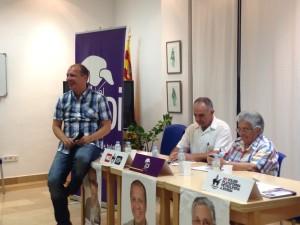 Imagen de un mitin de PI-Eivissa, con Juanjo Ferrer, Joan Torres y Carmen Tur.