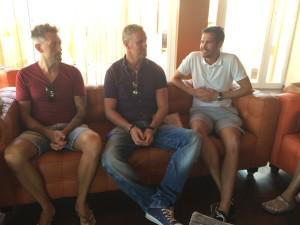 Nathan Seal, Martin Makepeace y Julian Cobby, durante la rueda de prensa.