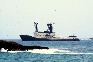 El Arctic P, propiedad del millonario australiano James Packer, está fondeando en frente de Los Molinos.
