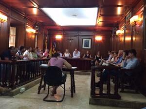 Imatge d'arxiu d'una sessió plenària a l'Ajuntament de Santa Eulària