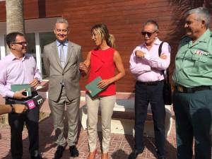 La Delegada del Gobierno en Baleares, Teresa Palmer, se había comprometido durante su última visita a Ibiza a destinar más agentes a las Pitiusas. Foto: L.A.