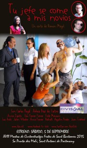 Cartel promocional del cortometraje 'Tu jefe se come a mis novios'
