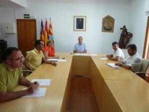 Imagen de la reunión de la junta de portavoces que ha tenido lugar hoy en Formentera.
