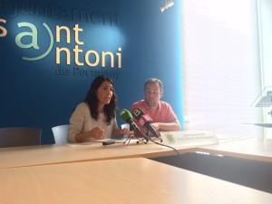 Aida Alcaraz y Fran Tienda en rueda de prensa.