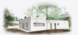 Un boceto de Can Tanca, que está previsto que esté construida en junio de 2016.