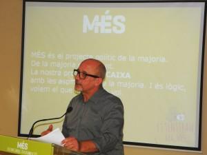 Joan Ribas , candidat de Més per Eivissa durant la seva intervenció.
