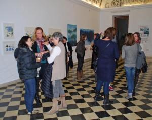 Una imatge de la inauguración de l'exposició 'Mujeres'.
